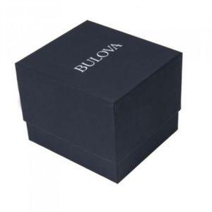 Bulova Accessories - Mens Bulova Diamond Quartz Silver Black 31mm Watch